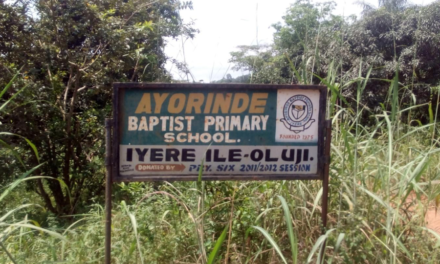 #WaterIyere – Tracking the construction of school toilet with cargo textures and drilling of borehole at Ayorinde Baptist Primary School, Iyere