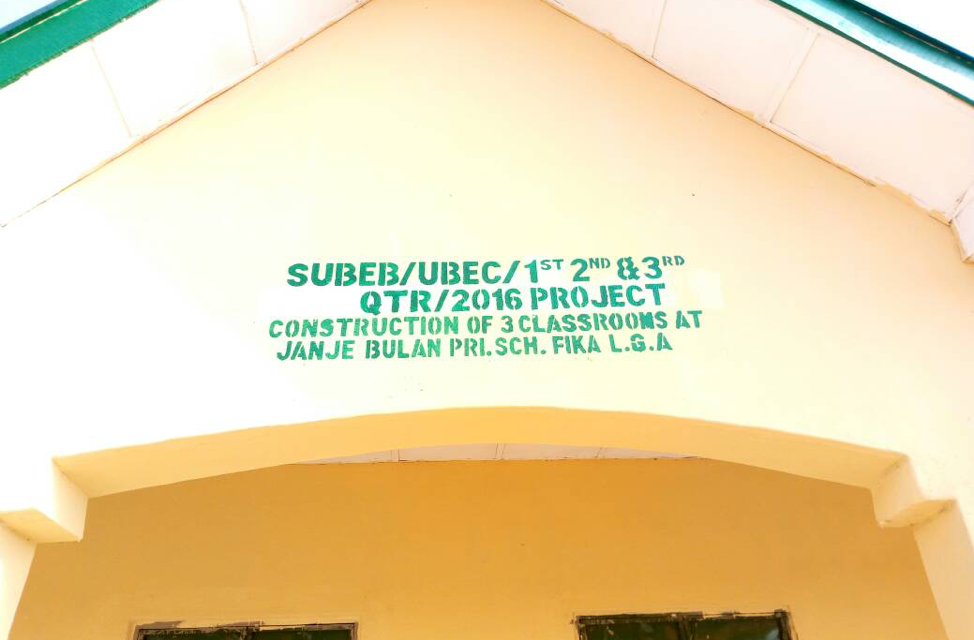 #ErectJanjeBulan – Tracking NGN 8.2 Million for the Construction of three (3) Classrooms at Janja Bula PS, Janja Bula, Fika LGA