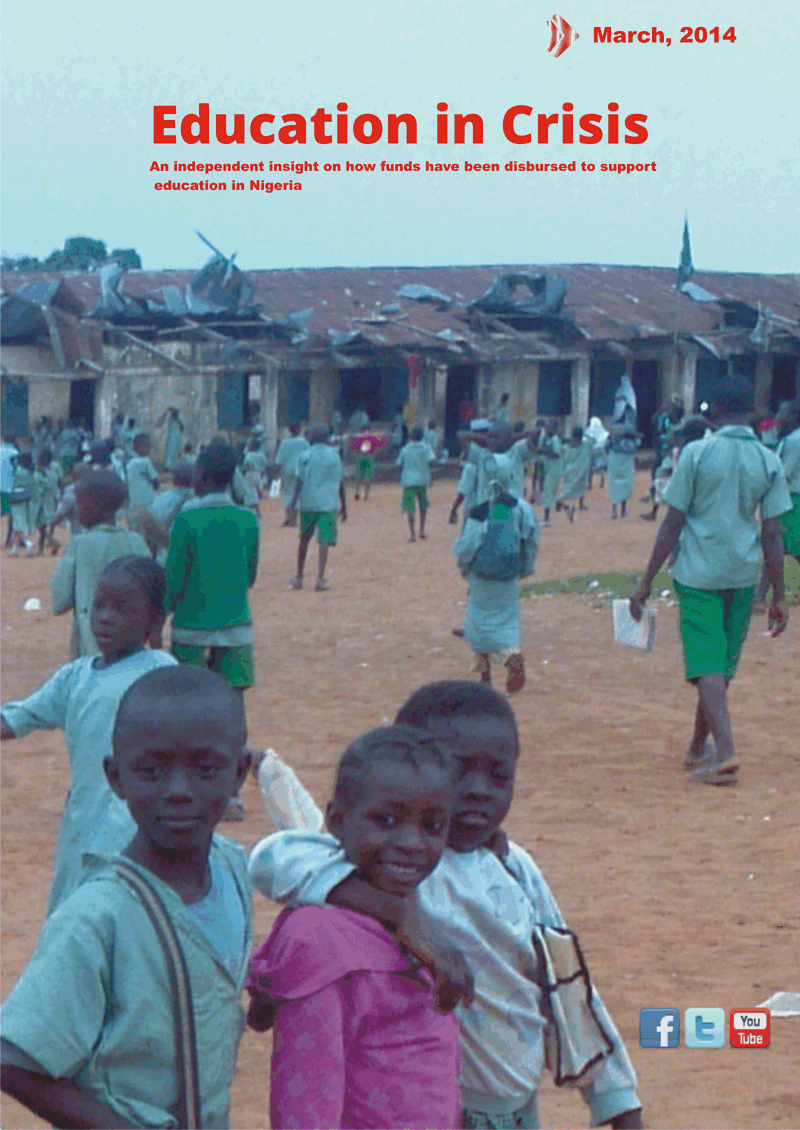"Download ""Education in Crisis"" our data report on education funds in Nigeria in PDF"