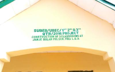 #ErectJanjeBulan – Tracking NGN 8.2 Million for the Construction of three (3) Classrooms at Janja Bula PS, Janja Bula, Fika LGA